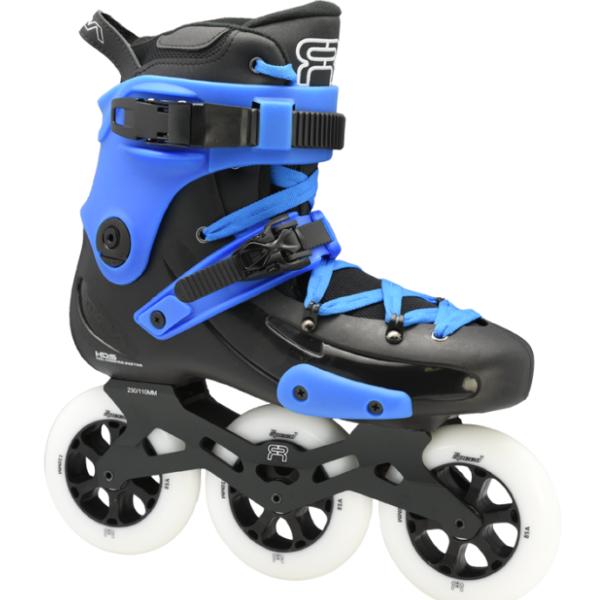 custom black blue skate fr1 with 3 110 mm wheels 3D frames