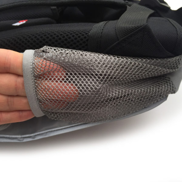 grey seba skate bag side net pocket