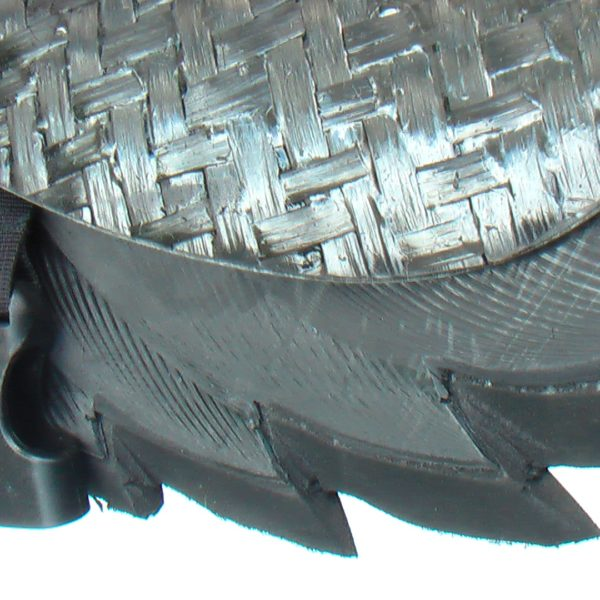 detail of the material effects on the PE and carbon of buggy rollin man chest