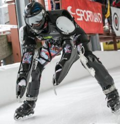 Rollerman on ice at Sigulda