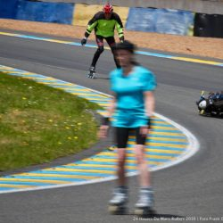 24h du Mans Roller Rollerman at 24 hours of le Mans Roller