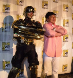 Jackie Chan and Jean Yves Blondeau Comic-con with Jackie Chan