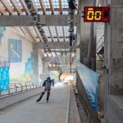 Rollerman at Sochi Bob Track race