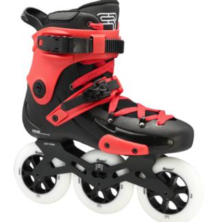 custom black red skate fr1 with 3 110 mm wheels 3D frames