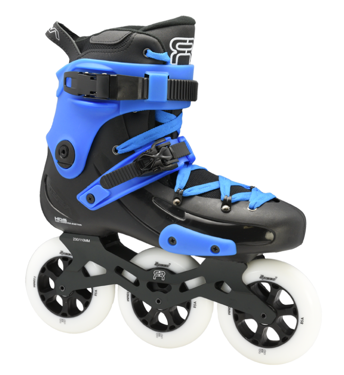 custom black blue skate fr1 with 3 110 mm wheels 3D frames