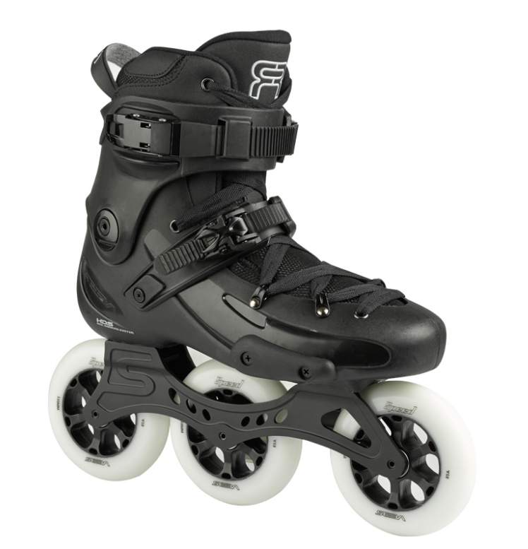 black black skate fr1 with 3 110 mm wheels