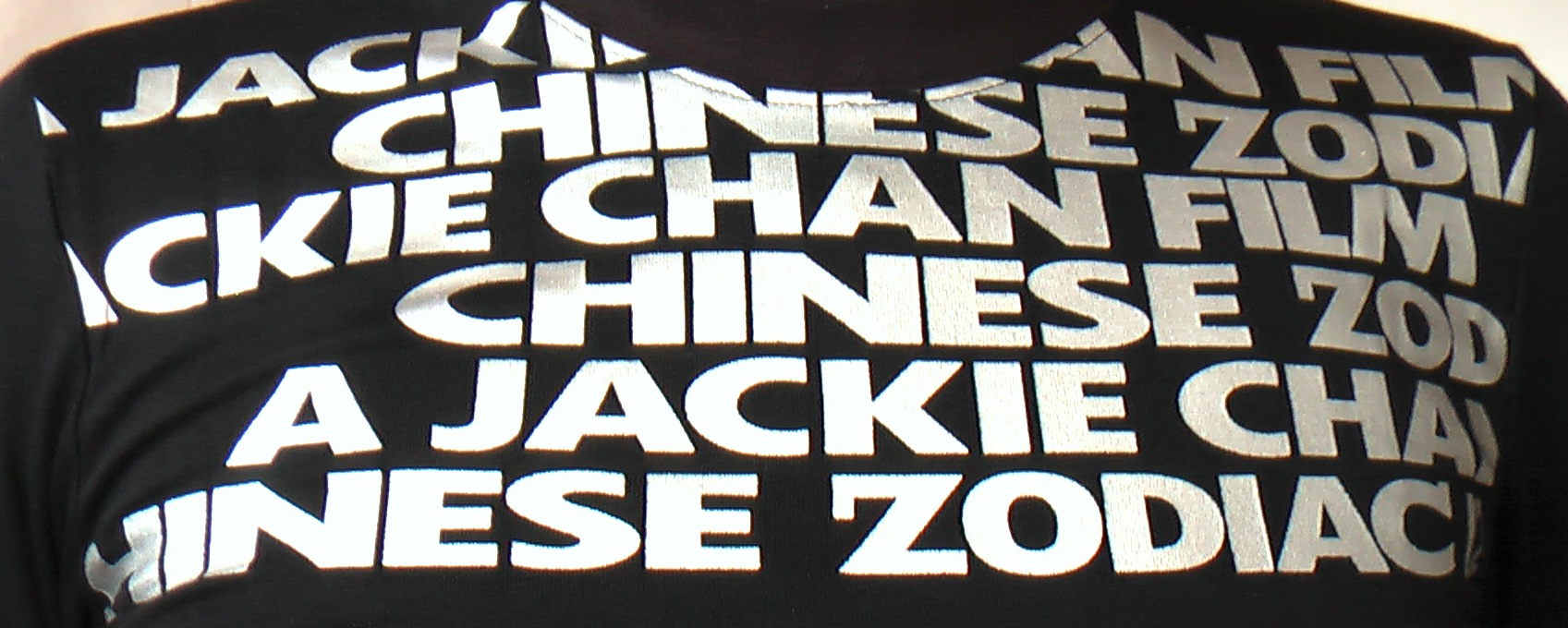 silver printed text on the chest of the buggy rollin T-shirt