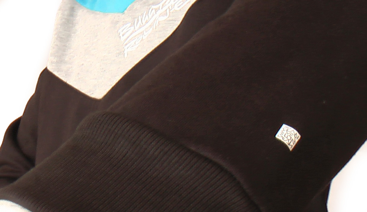 sleeve detail white square signature designed by Jean Yves Blondeau buggy rollin team hoodie