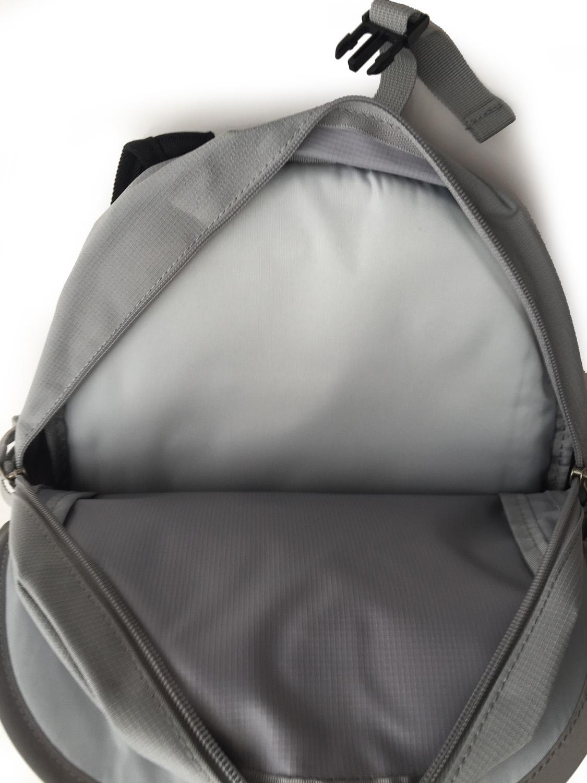 grey seba skate bag show inside the main pocket