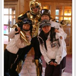 Welcome to MUJU Rollerman accueille les touristes a MUJU Resort