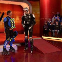 Rollerman at Stern TV