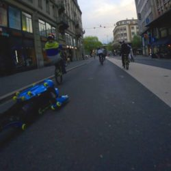 Lausanne competition et descente libre Lausanne event and free ride in the street