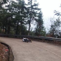 Rollerman at Baimashan