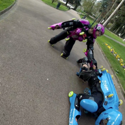 Herve and Ksenjia did BUGGY ROLLIN at Aix les bains